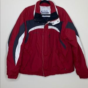 Columbia | Men's Winter Coat in Red Black White